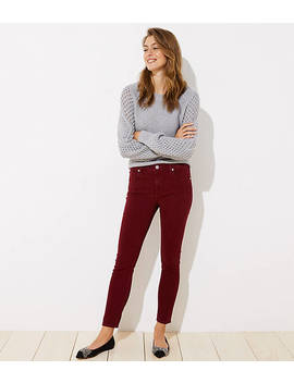 Petite Modern Soft Skinny Jeans In French Burgundy by Loft