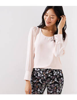 Petite Scoop Neck Blouse by Loft