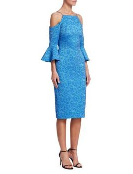 Cold Shoulder Jacquard Dress by Theia