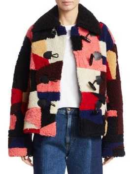 Patchwork Shearling Jacket by Mc Q Alexander Mc Queen