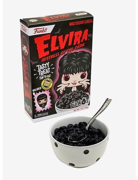 Funko Elvira Mistress Of The Dark Funk O's Cereal With Pocket Pop! Elvira Cereal Hot Topic Exclusive by Hot Topic