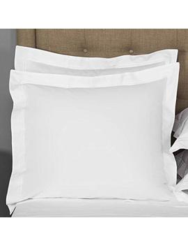 european-square-pillow-shams-set-of-2-white-600-thread-count-100%-natural-cotton-pack-of-two-euro-26-x-26-pillow-shams-cushion-cover,-cases-super-soft-decorative-(white,-european-26x26) by vedanta-home-collection