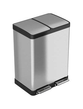 Itouchless Stainless Steel 16 Gallon Step On Multi Compartments Trash And Recycling Bin & Reviews by I Touchless