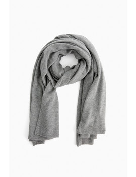 Gray Heather Cashmere Travel Wrap by White + Warren