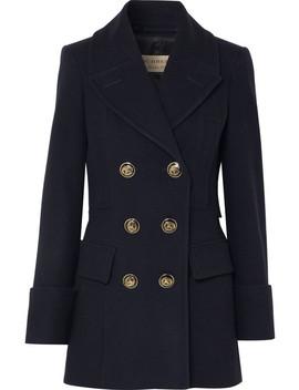 Doppelreihiger Mantel Aus Wollfilz by Burberry