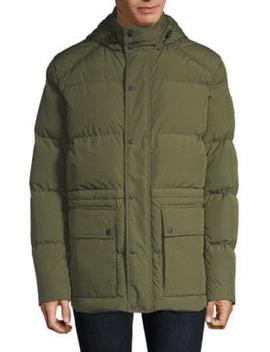 Tallow Hooded Down Coat by Belstaff