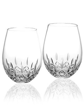 Stemware Lismore Nouveau Stemless Deep Red Wine Glasses, Set Of 2 by Waterford