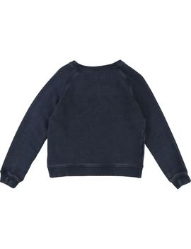 Gilrs Navy Fleece Sweater by Zadig & Voltaire