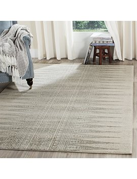 Safavieh Evoke Collection Evk226 Z Bohemian Vintage Ivory And Silver Area Rug (9' X 12') by Safavieh
