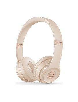 Beats By Dre Solo 3 On Ear Wireless Headphones  Satin Gold by Argos