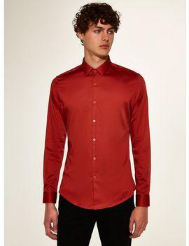 Premium Rust Slim Smart Shirt by Topman