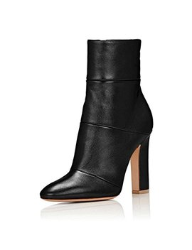 Fsj Women Retro Chunky High Heel Ankle Boots Pointed Toe Booties With Side Zipper Size 4 15 Us by Fsj