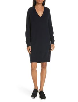 Deep V Neck Sweater Dress by Vince