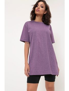 Purple Basic Oversized T Shirt by I Saw It First