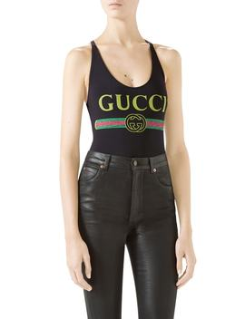 Logo One Piece Swimsuit by Gucci
