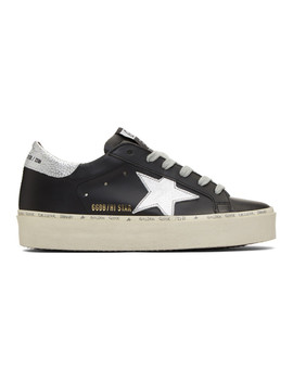 Black & Silver Hi Star Sneakers by Golden Goose