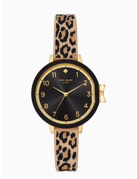 Park Row Leopard Print Silicone Watch by Kate Spade