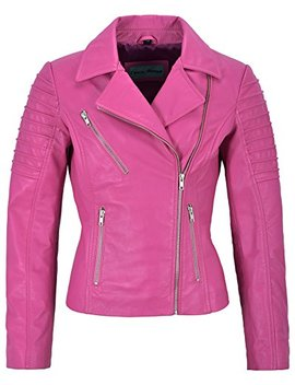 Jessica Alba Fashion Designer Ladies Leather Jacket Soft Biker Style 9334 by Smart Range