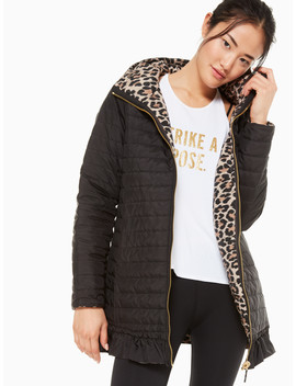Reversible Leopard Print Parka by Kate Spade
