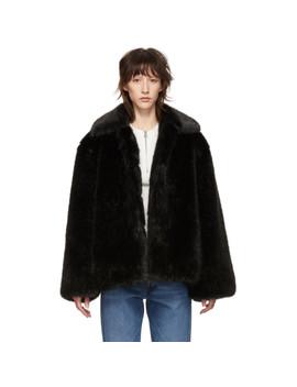 Black Faux Fur Chatel Jacket by TotÊme