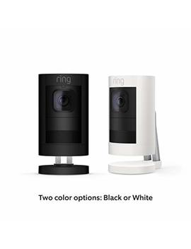 All New Ring Stick Up Cam Battery Hd Security Camera With Two Way Talk, Night Vision And Siren, White, Works With Alexa by Ring