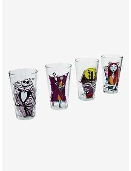 The Nightmare Before Christmas Jack & Sally Pint Glass Set by Hot Topic