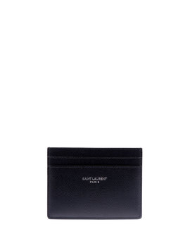 Men's Classic Pebbled Leather Card Case by Saint Laurent