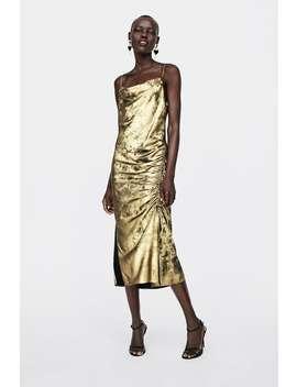 Metallic  Effect Camisole Dress View All Dresses Woman by Zara