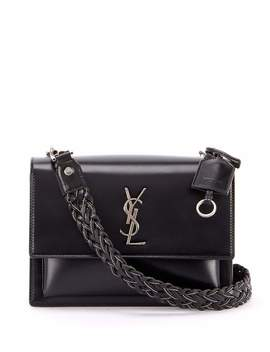 Sunset Medium Ysl Monogram Flap Shoulder Bag   Silver Hardware by Saint Laurent