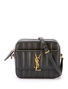 Vicky Medium Ysl Monogram Quilted Camera Bag by Saint Laurent