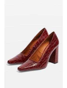 Geena Block Heel Court Shoes by Topshop
