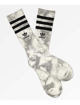 Adidas Roller White & Onyx Tie Dye Crew Socks by Adidas