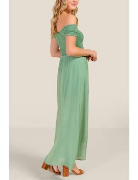 Erika Smocked Off The Shoulder Maxi Dress by Francesca's