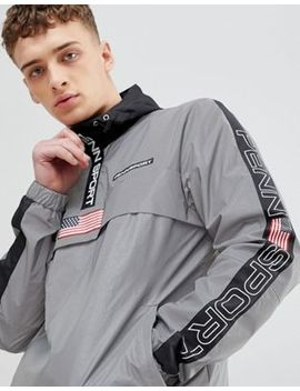 Penn Sport Windbreaker Hooded Jacket In Reflective by Penn Sport