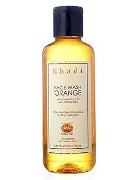 Khadi Mauri Orange Face Wash Pack Of 3 Herbal Natural Ayurvedic 250 Ml Each Buy 2 Get 1 Free by Khadi
