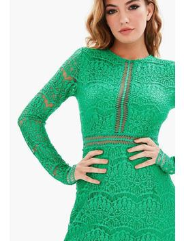 Tall Green Lace Mini Dress by Missguided