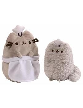 Gund Pusheen And Stormy Baking Plush Stuffed Animals, Collector Set Of 2, Gray by Gund