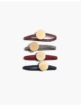 Four Pack Disc Metallic Hair Ties by Madewell