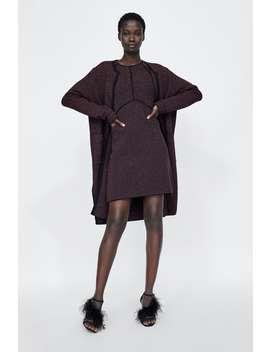 Long Metallic Thread Cardigan  Cardigans Knitwear Woman by Zara
