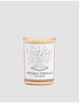 Portable Fireplace Candle by D.S. & Durga