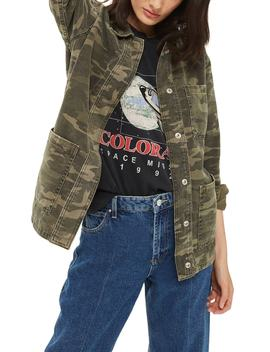 Cleo Camo Shirt Jacket by Topshop