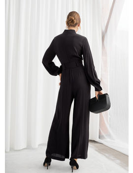 Long Sleeve Belted Jumpsuit by & Other Stories