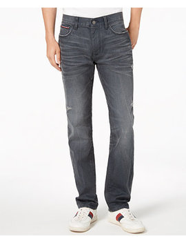 Tommy Hilfiger Men's Coated Straight Fit Stretch Jeans, Created For Macy's by Tommy Hilfiger Denim