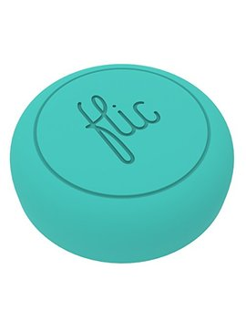 Flic  The Wireless Smart Button, Turquoise   The World's Smartest Button   Control Your Smart Home Devices, Apps And Services With The Push Of A Button by Flic