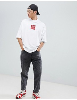 Asos Design Oversized T Shirt With Embroidery And Half Sleeve by Asos Design