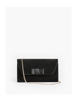 Suede Bow Clutch by Talbots