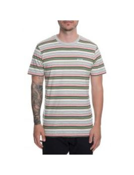 The Off Shore Stripe Tee In Pink by Huf