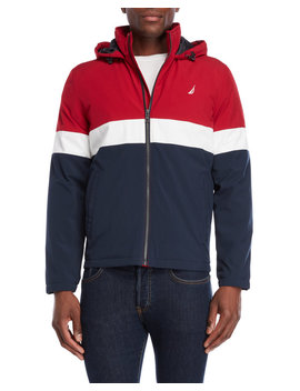 Color Block Hooded Jacket by Nautica
