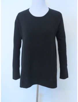 Co Black 100% Cashmere Crewneck Sweater Sz S by Co