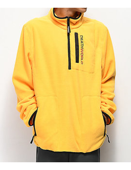 Deathworld Half Zip Yellow Tech Fleece Jacket by Deathworld